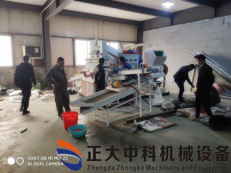 干式铜米机浙江湖州客户